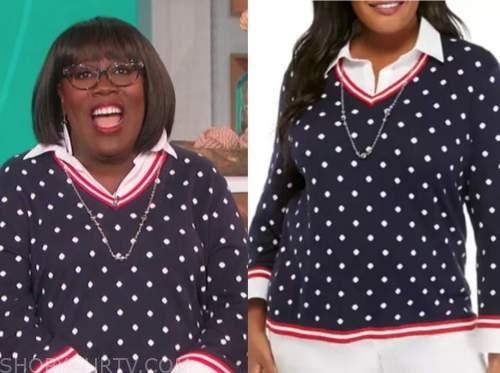sheryl underwood, the talk, polka dot sweater