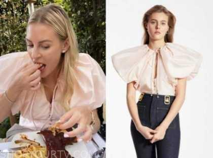 morgan stewart, pink top, instagram fashion