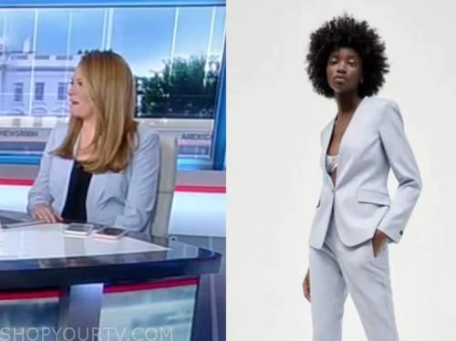 gillian turner, america's newsroom, blue blazer