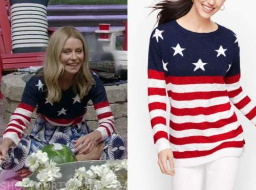 kelly ripa, live with kelly and ryan, american flag sweater