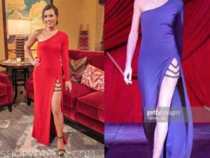 the bachelorette, red one-shoulder dress, katie thurston