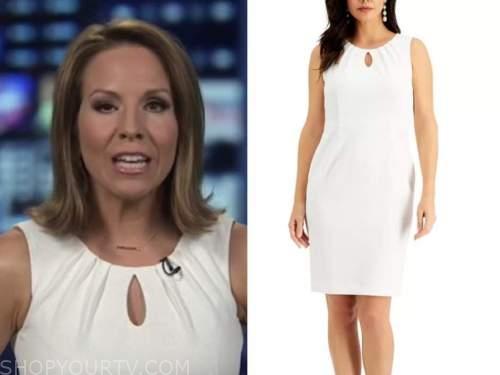 alicia acuna, america reports, white keyhole sheath dress