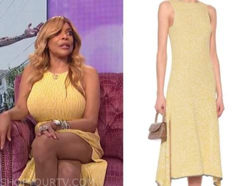 wendy williams, the wendy williams show, yellow knit dress