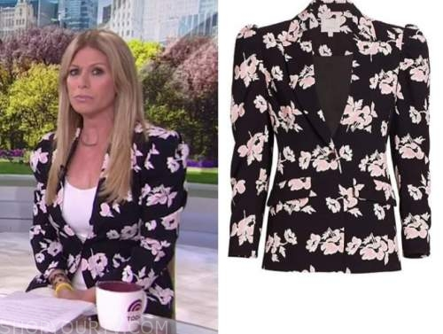 jill martin, the today show, black and pink floral blazer