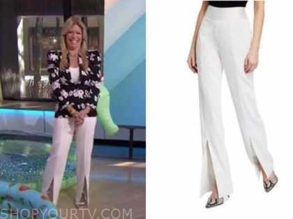 the today show, jill martin, white split pants