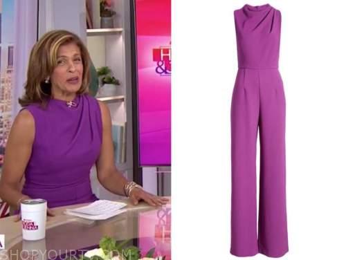the today show, hoda kotb, purple jumpsuit