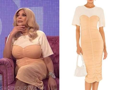 wendy williams, the wendy williams show, ruched dress