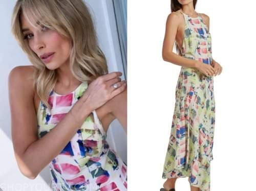 arielle vandenberg, love island usa, printed dress
