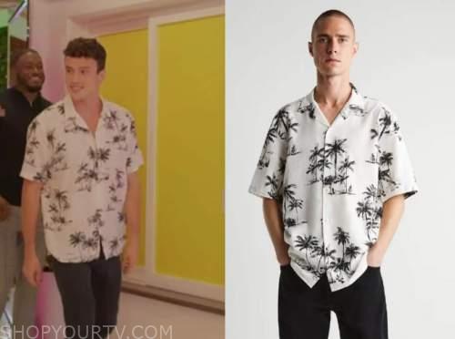 Will Moncada, love island usa, palm tree shirt