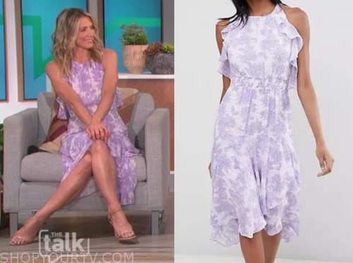 DEBBIE MATENOPOULOS, the talk, purple dress