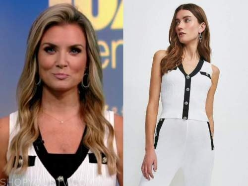 jillian mele, fox and friends, white and black knit top