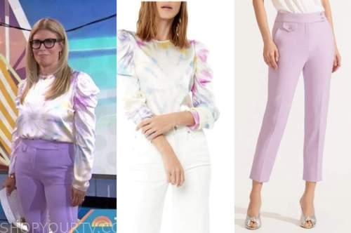 jill martin, the today show, tie dye top, purple pants