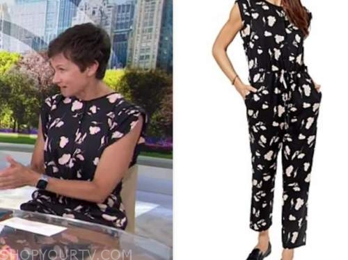 stephanie gosk, the today show, black floral jumpsuit