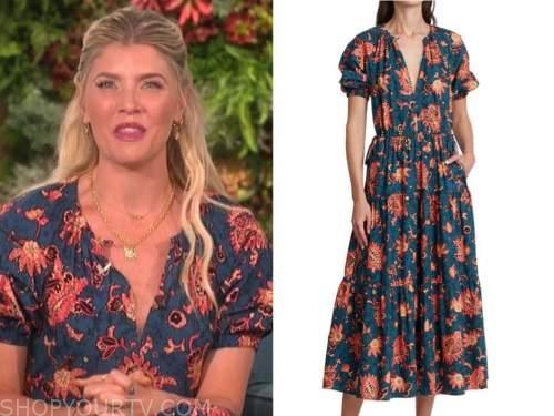 the talk, amanda kloots, floral dress