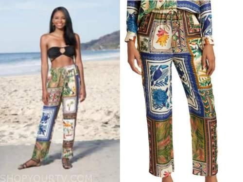natasha parker, printed pants, bachelor in paradise