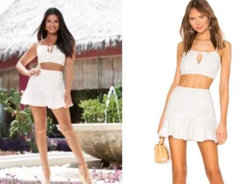 mari pépin, bachelor in paradise, white crochet skirt set