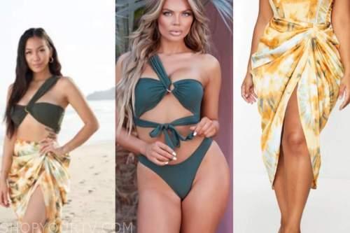 bachelor in paradise, tammy ly, green bikini, orange midi skirt