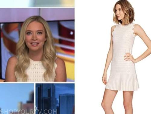 kayleigh mcenany, outnumbered, fox news, pink knit scallop dress