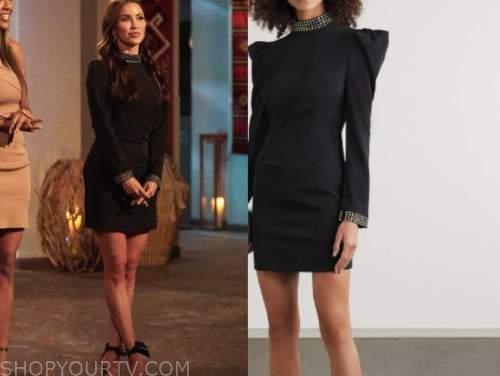 kaitlyn bristowe, black embellished trim dress, the bachelorette