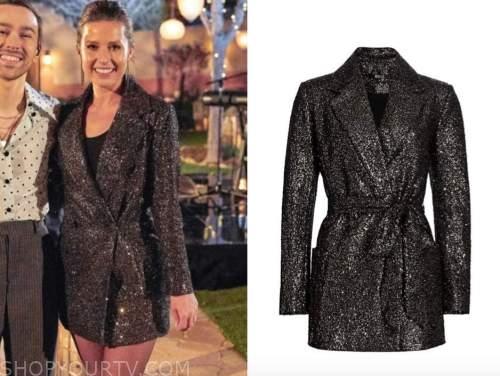 katie thurston, the bachelorette, sequin blazer