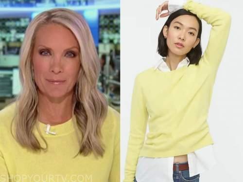 america's newsroom, yellow sweater, dana perino
