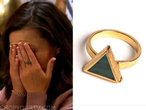 katie thurston, the bachelorette, green triangle ring