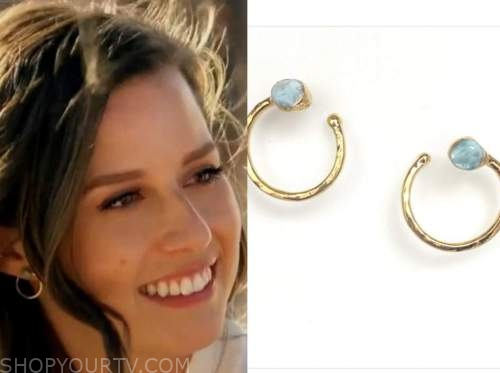 the bachelorette, katie thurston, circle stone earrings
