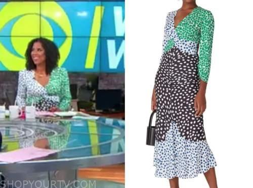 adriana diaz, cbs this morning, colorblock dress
