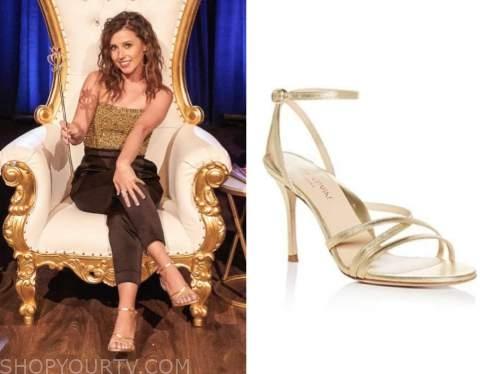 katie thurston, the bachelorette, gold sandals