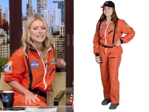 kelly ripa, live with kelly and ryan, orange nasa jumpsuit