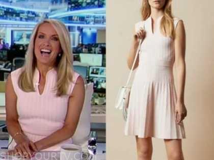 dana perino, america's newsroom, blush pink knit dress
