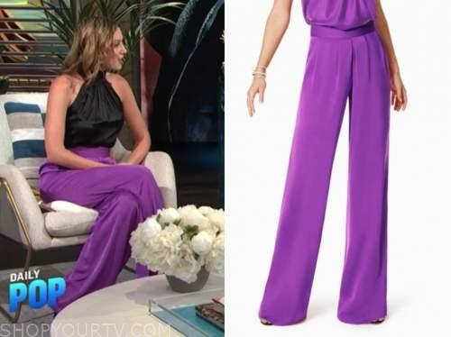 elizabeth wagmeister, purple pants, E! news, daily pop