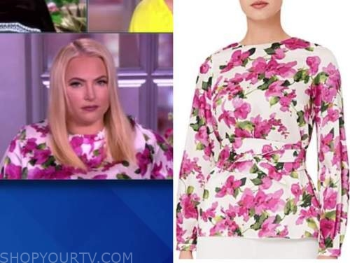 meghan mccain, the view, pink floral top