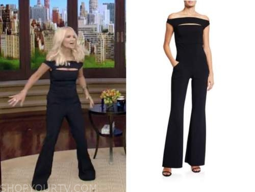 kristin chenoweth, live with kelly and ryan, black jumpsuit