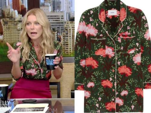 kelly ripa, live with kelly and ryan, floral top