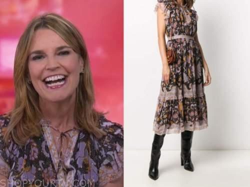 savannah guthrie, the today show, floral midi dress