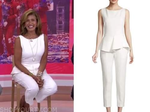 hoda kotb, the today show, white peplum jumpsuit