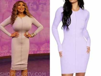 wendy williams, the wendy williams show, purple knit dress