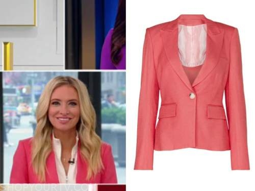 kayleigh mcenany, outnumbered, coral pink blazer