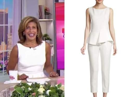 the today show, white peplum jumpsuit, hoda kotb