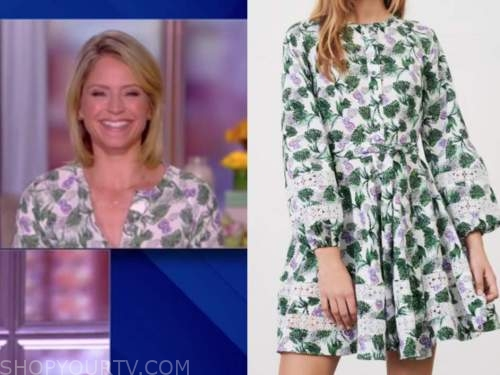 sara haines, the view, floral dress