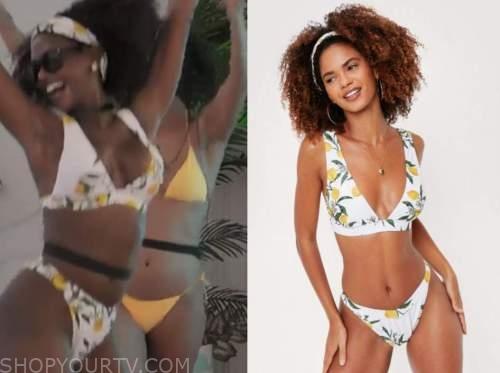 love island usa, lemon print bikini, Lei-Yen Rapp
