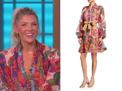amanda kloots, the talk, paisley dress