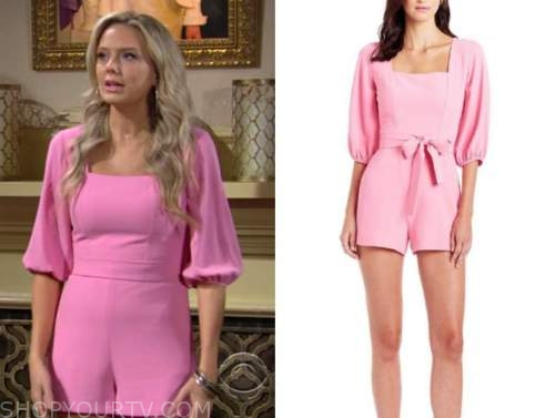 abby newman, melissa ordway, the young and the restless, pink romper