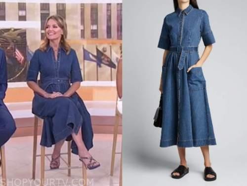 savannah guthrie, the today show, denim shirt midi dress