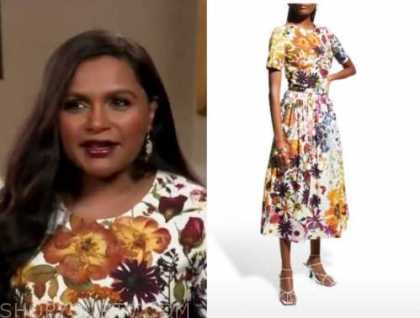 mindy kaling, the today show, floral dress