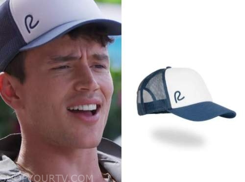 will moncada, love island usa, blue and white baseball cap