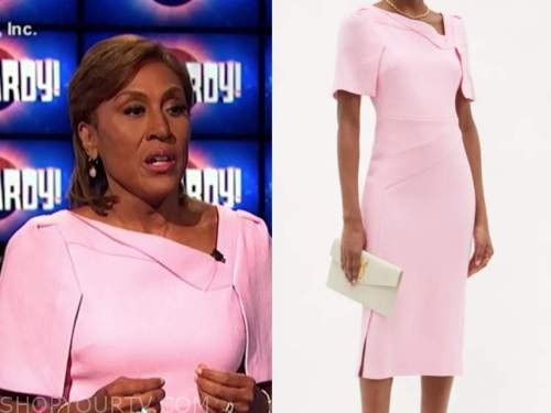 robin roberts, jeopardy, pink dress