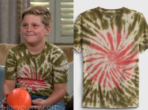 johnny abbott, ryan and holden hare, the young and the restless, tie dye tee
