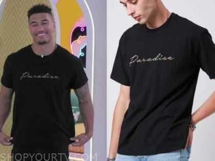 wes, love island usa, black paradise t-shirt